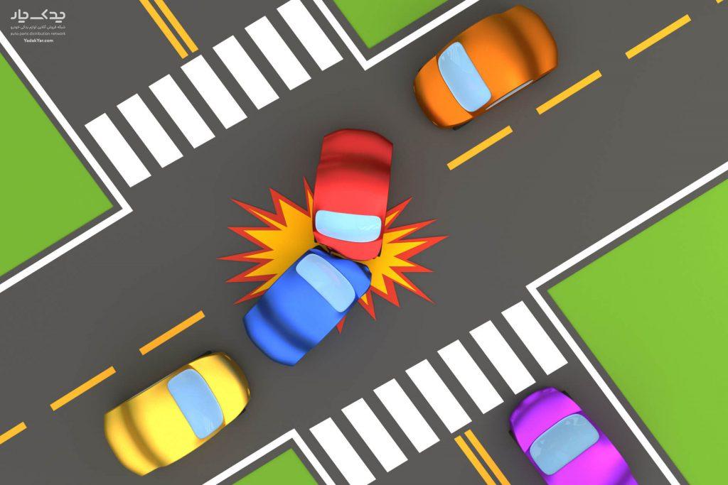 تصادف در چهار راه