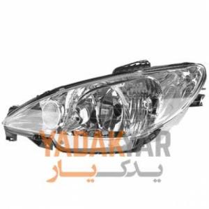 چراغ پژو 206 هاچ بک تیپ 3 جلو چپ کروز - ایران