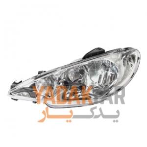 چراغ 206 صندوقدار SD V9 جلو چپ با موتور جمع ساز